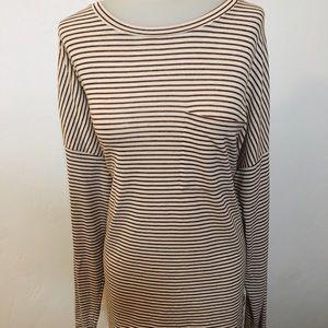 Stripe tunic blouse